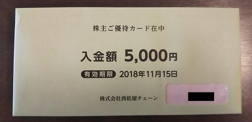 西松屋から株主優待が届きました!優待の内容は、西松屋で使える金券カードです!総合利回り最大3.52%!