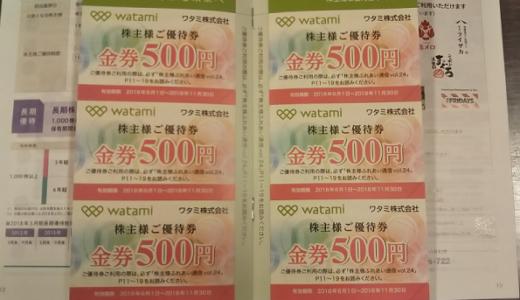 ワタミから株主優待が届きました!優待内容は、自社食事券3,000円orカタログで魅力的です!総合利回り最大4.79%