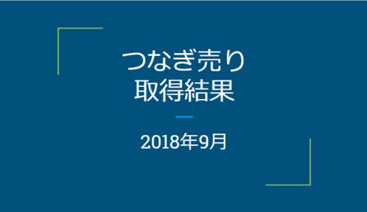 【つなぎ売り】2018年9月 SBI証券・楽天証券クロス取引の結果!