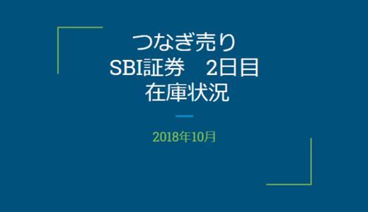 【つなぎ売り】2018年10月一般信用の売り在庫状況 SBI証券2日目(クロス取引)