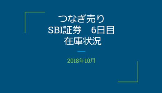 【つなぎ売り】2018年10月一般信用の売り在庫状況 SBI証券6日目(クロス取引)