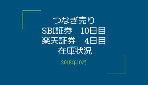 【つなぎ売り】2018年10月一般信用の売り在庫状況 SBI証券10日目 楽天証券4日目(クロス取引)