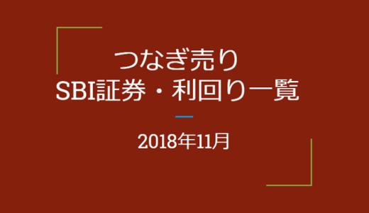 【つなぎ売り】2018年11月銘柄 SBI証券 優待利回り一覧(一般信用の売り)