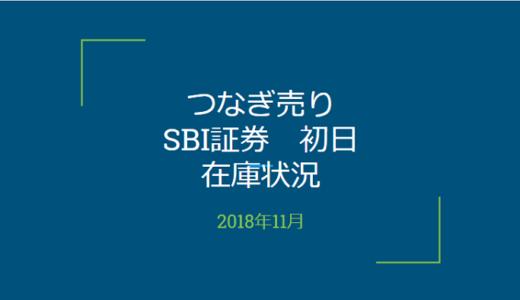 【つなぎ売り】2018年11月一般信用の売り在庫状況 SBI証券初日(クロス取引)