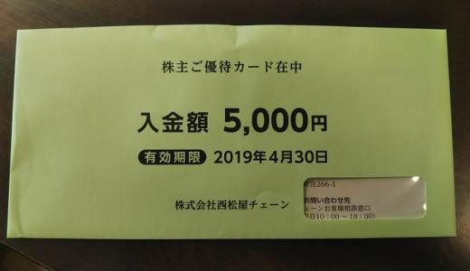西松屋から優待カード5,000円分の株主優待が届きました!総合利回り最大4.48%!