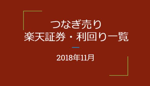 【つなぎ売り】2018年11月銘柄 楽天証券 優待利回り一覧(一般信用の売り)