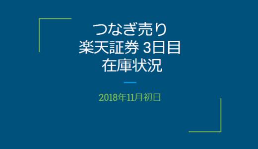 【つなぎ売り】2018年11月一般信用の売り在庫状況 楽天証券3日目(クロス取引)