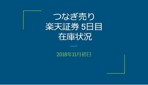 【つなぎ売り】2018年11月一般信用の売り在庫状況 楽天証券5日目(クロス取引)