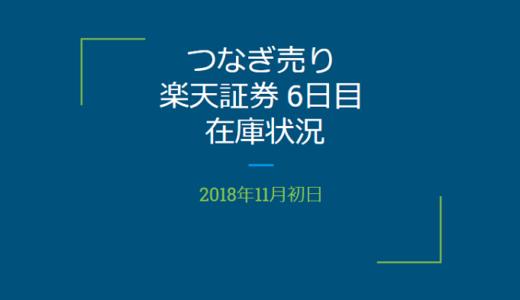 【つなぎ売り】2018年11月一般信用の売り在庫状況 楽天証券6日目(クロス取引)