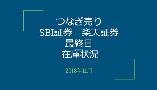 【つなぎ売り】2018年11月一般信用の売り在庫状況 楽天証券・SBI証券最終日(優待クロス取引)