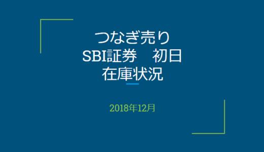 2018年12月一般信用の売り在庫状況 SBI証券初日(優待クロス取引)
