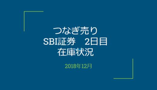 2018年12月一般信用の売り在庫状況 SBI証券2日目(優待クロス取引)