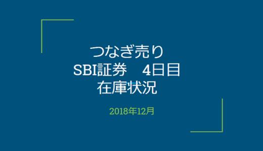 2018年12月一般信用の売り在庫状況 SBI証券4日目(優待クロス取引)