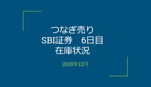 2018年12月一般信用の売り在庫状況 SBI証券6日目(優待クロス取引)