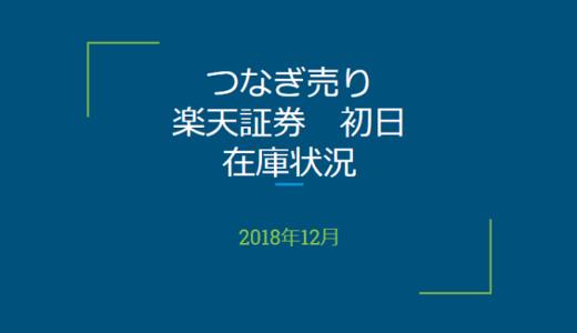 2018年12月一般信用の売り在庫状況 楽天証券初日(優待クロス取引)