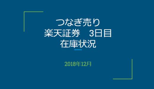2018年12月一般信用の売り在庫状況 楽天証券3日目(優待クロス取引)