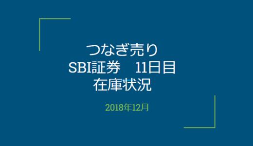 2018年12月一般信用の売り在庫状況 SBI証券11日目(優待クロス取引)