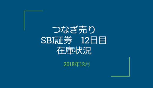 2018年12月一般信用の売り在庫状況 SBI証券12日目(優待クロス取引)