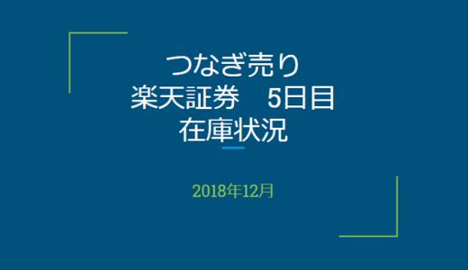 2018年12月一般信用の売り在庫状況 楽天証券5日目(優待クロス取引)