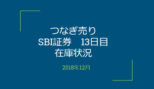 2018年12月一般信用の売り在庫状況 SBI証券13日目(優待クロス取引)