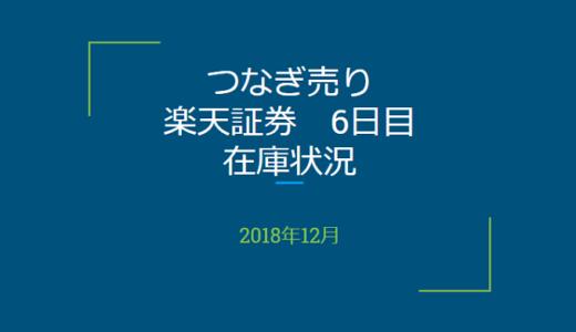 2018年12月一般信用の売り在庫状況 楽天証券6日目(優待クロス取引)