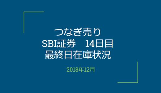 2018年12月一般信用の売り在庫状況 SBI証券14日目最終日(優待クロス取引)
