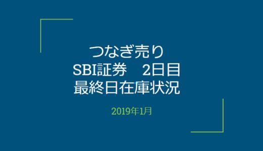 2019年1月一般信用の売り在庫状況 SBI証券2日目(優待クロス取引)