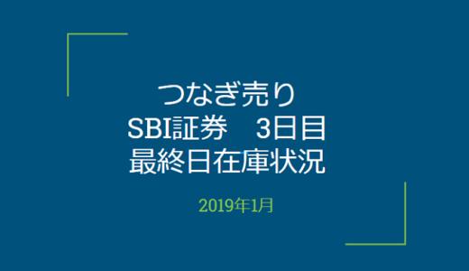 2019年1月一般信用の売り在庫状況 SBI証券3日目(優待クロス取引)