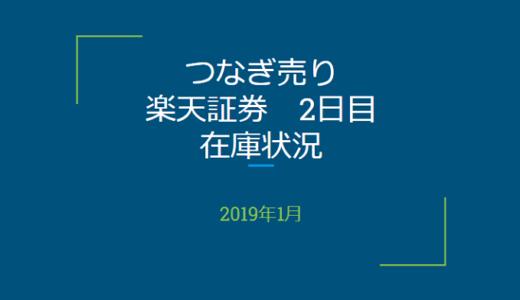 2019年1月一般信用の売り在庫状況 楽天証券2日目(優待クロス取引)