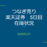 2019年1月一般信用の売り在庫状況 楽天証券5日目(優待クロス取引)
