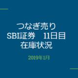 2019年1月一般信用の売り在庫状況 SBI証券11日目(優待クロス取引)