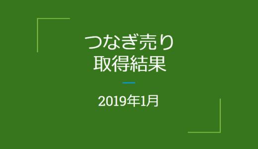 2019年1月「つなぎ売り」の結果(優待クロス取引)