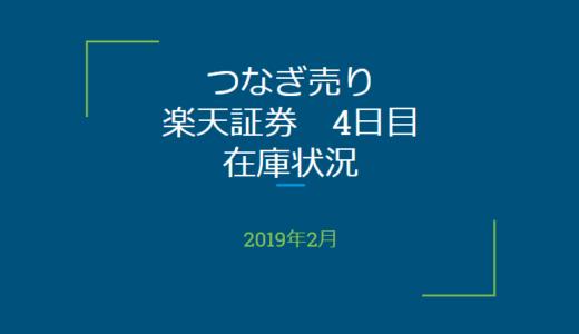 2019年2月一般信用の売り在庫状況 楽天証券4日目(優待クロス取引)