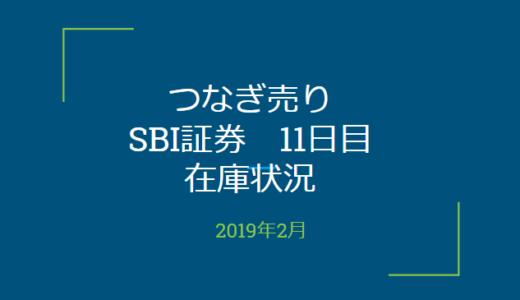 2019年2月一般信用の売り在庫状況 SBI証券11日目(優待クロス取引)