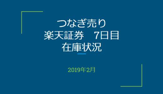 2019年2月一般信用の売り在庫状況 楽天証券7日目(優待クロス取引)