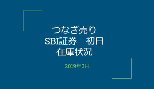 2019年3月一般信用の売り在庫状況 SBI証券初日(優待クロス取引)
