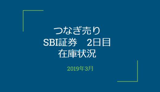 2019年3月一般信用の売り在庫状況 SBI証券2日目(優待クロス取引)