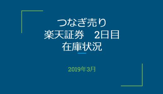 2019年3月一般信用の売り在庫状況 楽天証券2日目(優待クロス取引)