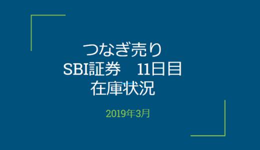 2019年3月一般信用の売り在庫状況 SBI証券11日目(優待クロス取引)