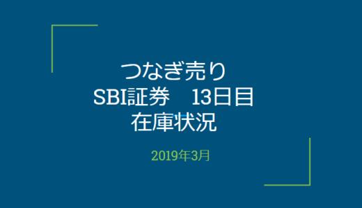 2019年3月一般信用の売り在庫状況 SBI証券13日目(優待クロス取引)