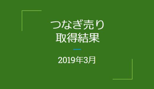 2019年3月つなぎ売りの結果(優待クロス取引)