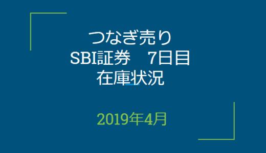 2019年4月一般信用の売り在庫状況 SBI証券7日目(優待クロス取引)