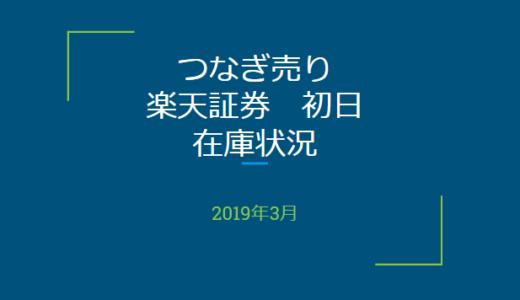 2019年4月一般信用の売り在庫状況 楽天証券初日(優待クロス取引)