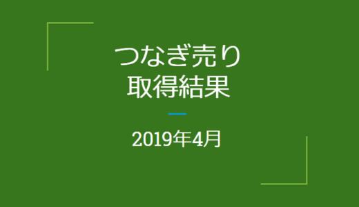 2019年4月つなぎ売りの結果(優待クロス取引)