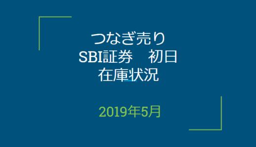 2019年5月つなぎ売り、SBI証券初日在庫状況(優待クロス取引)