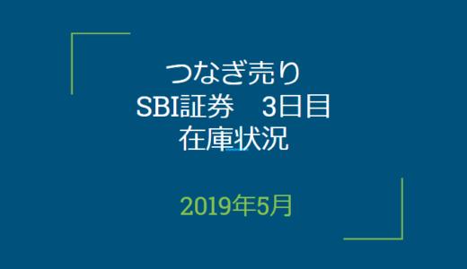 2019年5月つなぎ売り、SBI証券3日目在庫状況(優待クロス取引)