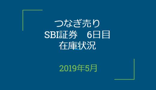 2019年5月つなぎ売り、SBI証券6日目在庫状況(優待クロス取引)