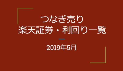 2019年5月つなぎ売り、楽天証券優待利回り一覧(優待クロス取引)