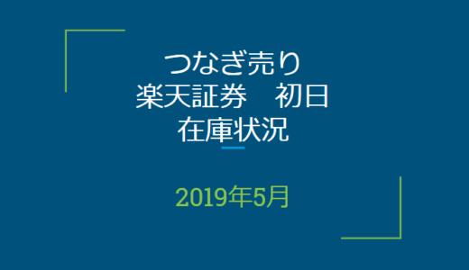 2019年5月つなぎ売り、楽天証券初日在庫状況(優待クロス取引)