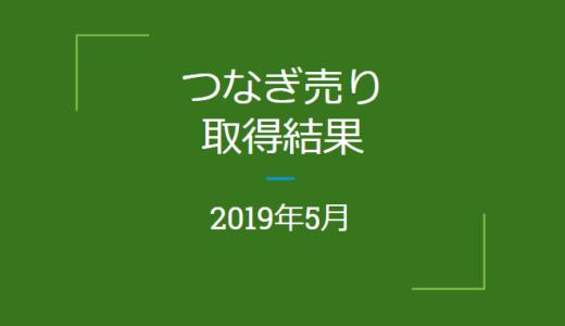 2019年5月つなぎ売りの結果(優待クロス取引)